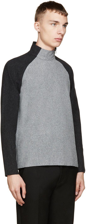 Johnlawrencesullivan Grey & Black Felted Wool Sweater