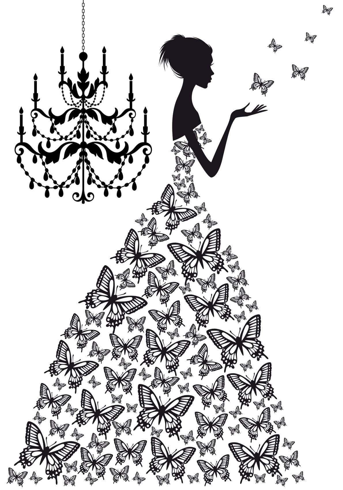 Pin by Rebecca K on SVG Cricut stuff Butterfly dress