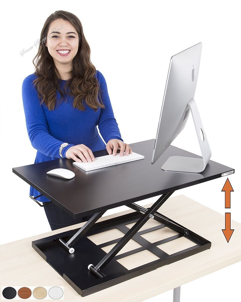 Standing Desk Height Adjustable Converter Size 28 X 20 Inch Stand