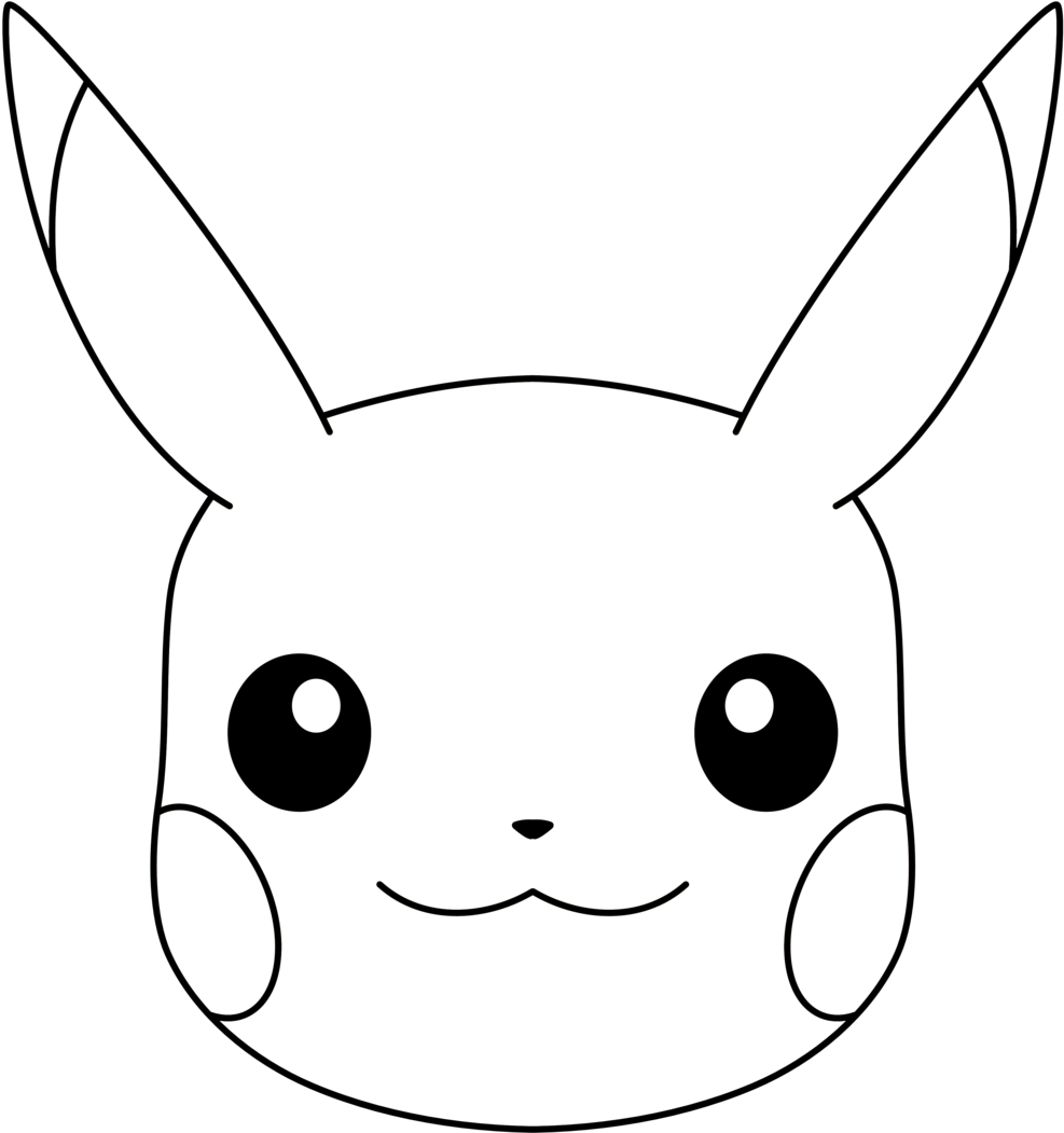 Face Png Transparent Images Pluspng Pluspngcom Ryanthescooterguy Pikachu Face Black And White Png Download Tr Pikachu Pokemon Coloring Sheets Pikachu Pinata