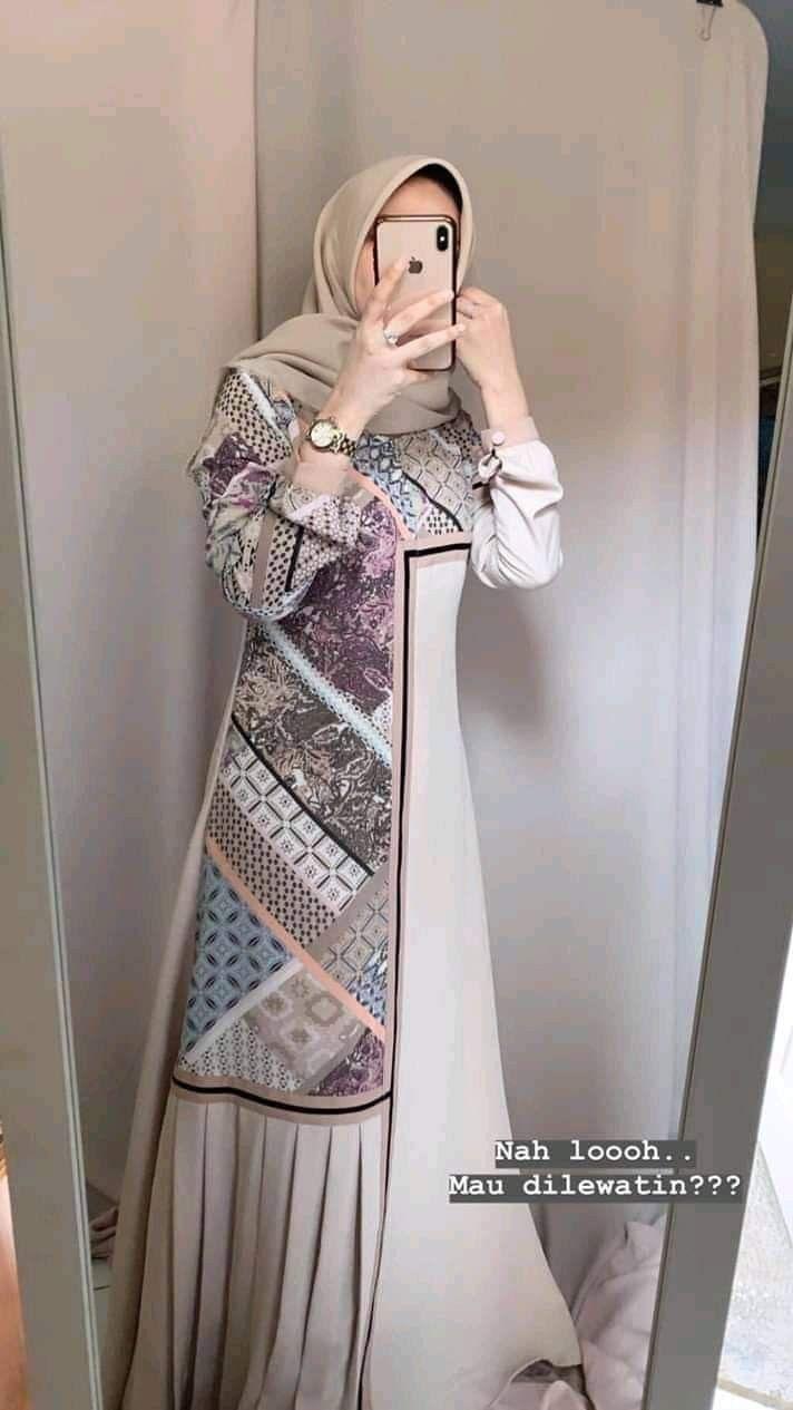 Pin oleh zoya hussain di gamis di 11  Model pakaian muslim