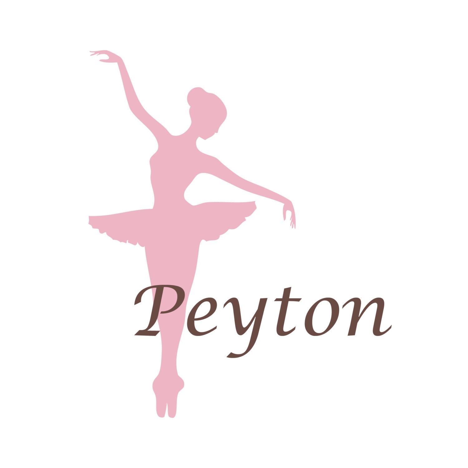 Ballerina Wall Decal Personalized Dance Theme Nursery Name Decal - Custom vinyl wall decals dance