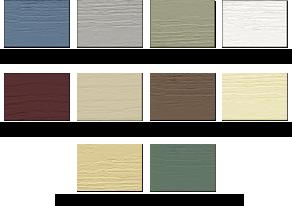 Vinyl Siding Color Scheme Close Approximations Of The Actual Color For A True Rendition Vinyl Siding Vinyl Siding Color Schemes Vinyl Siding Colors