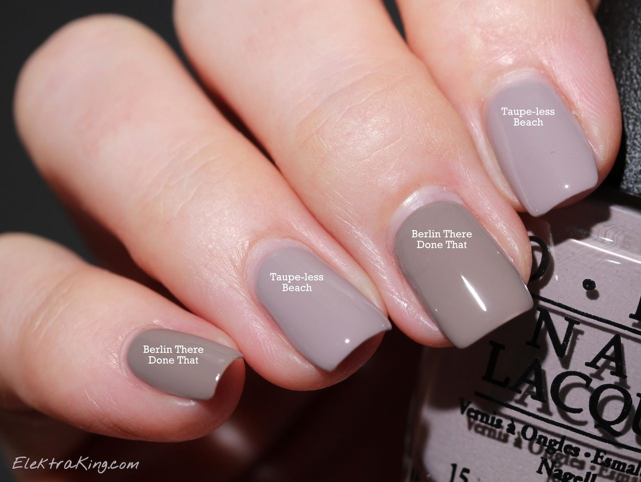 OPI Taupe-less Beach vs Berlin There Done That | Nailed it ...