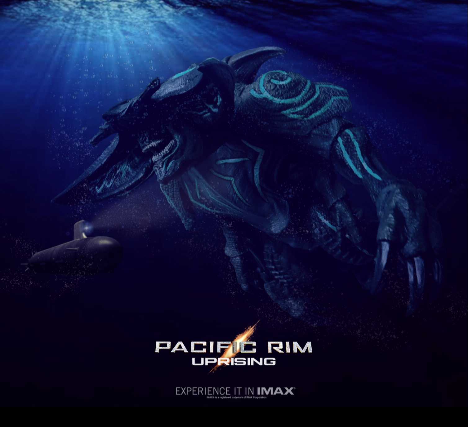Godzilla 2 Imax Poster Textless: PACIFIC RIM UPRISING. IMAX Poster By Pacific Shatterdome