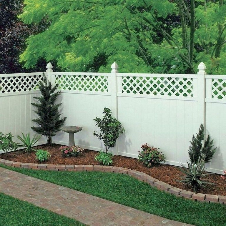 7 Affordable Landscaping Ideas For Under 1 000: 19+ Delicate Backyard Fencing Concrete Ideas