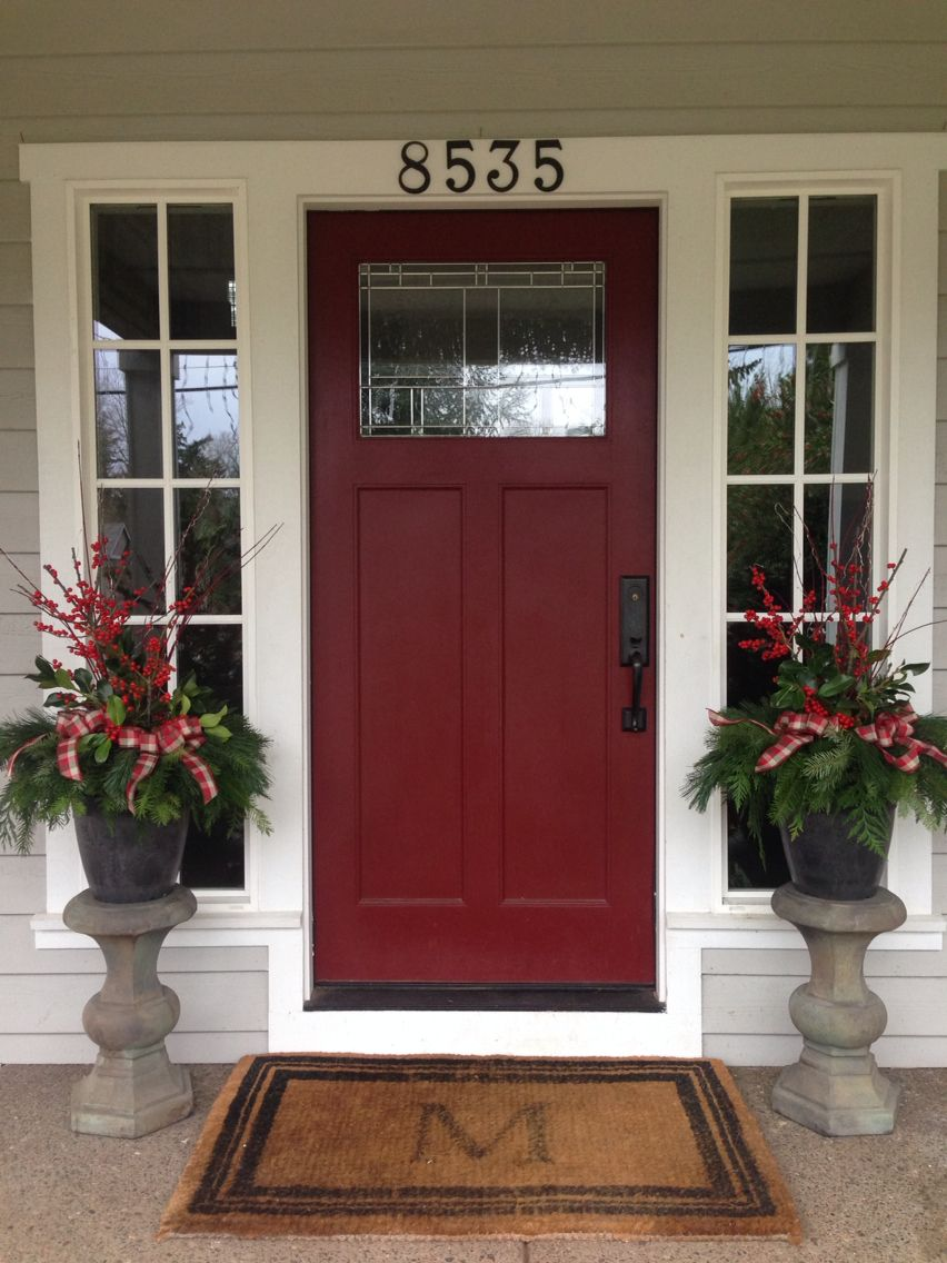 Decor door and window  porch pots  fernhill holly farms lodgepole style love them  home