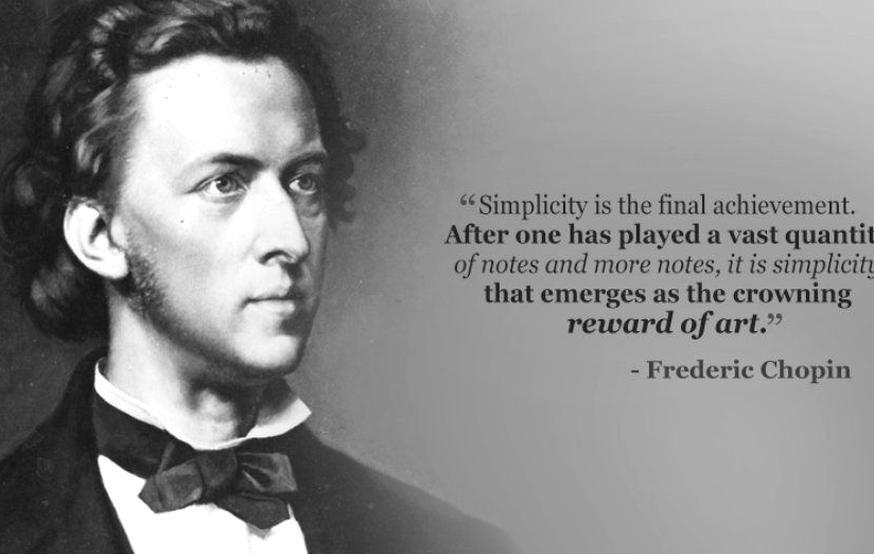 """FREDERIC CHOPIN photo quote poster INSPIRATIONAL /""""try to express/"""" 24X36 NEW"""