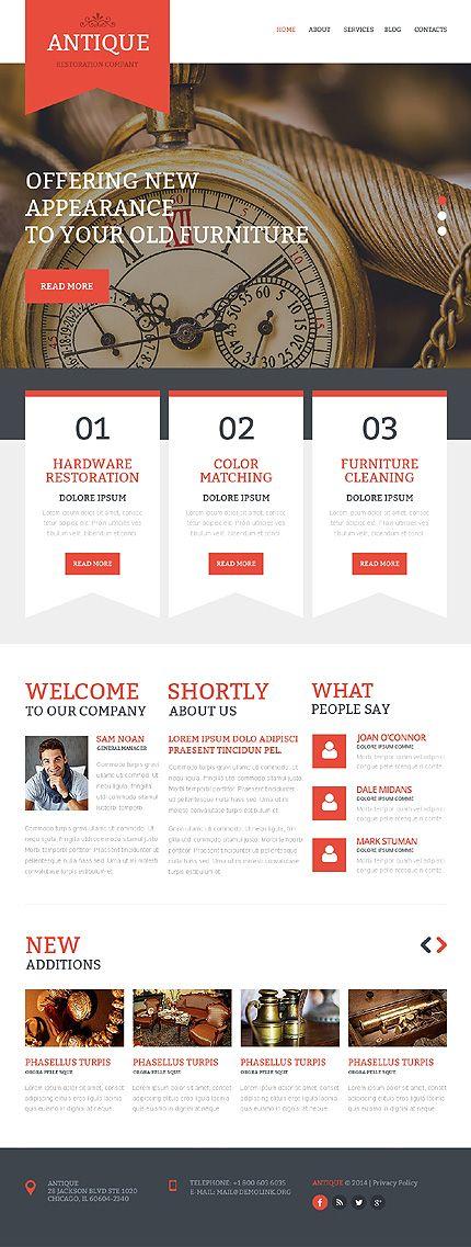 Antique Web Template Desktop Layout Webdesign Webdev Website Webtemplate Web Inspiration Website Template Templates