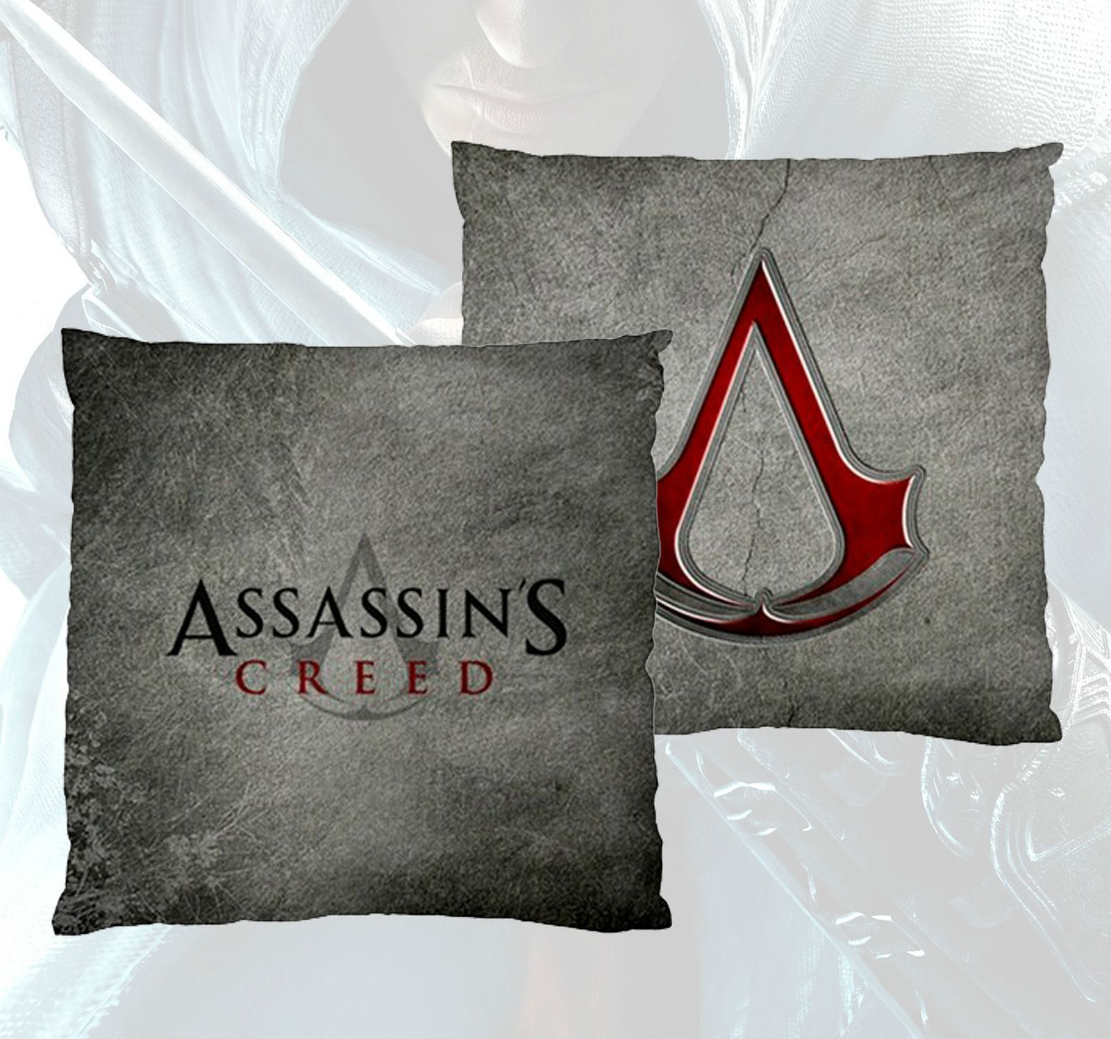 Video Game Theme Throw Pillow Assassin s Creed Emblem Logo PS3