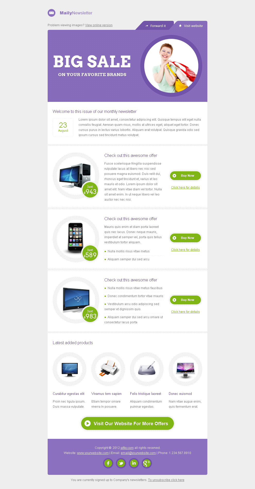 Email Design Template | Design: Email Design | Pinterest
