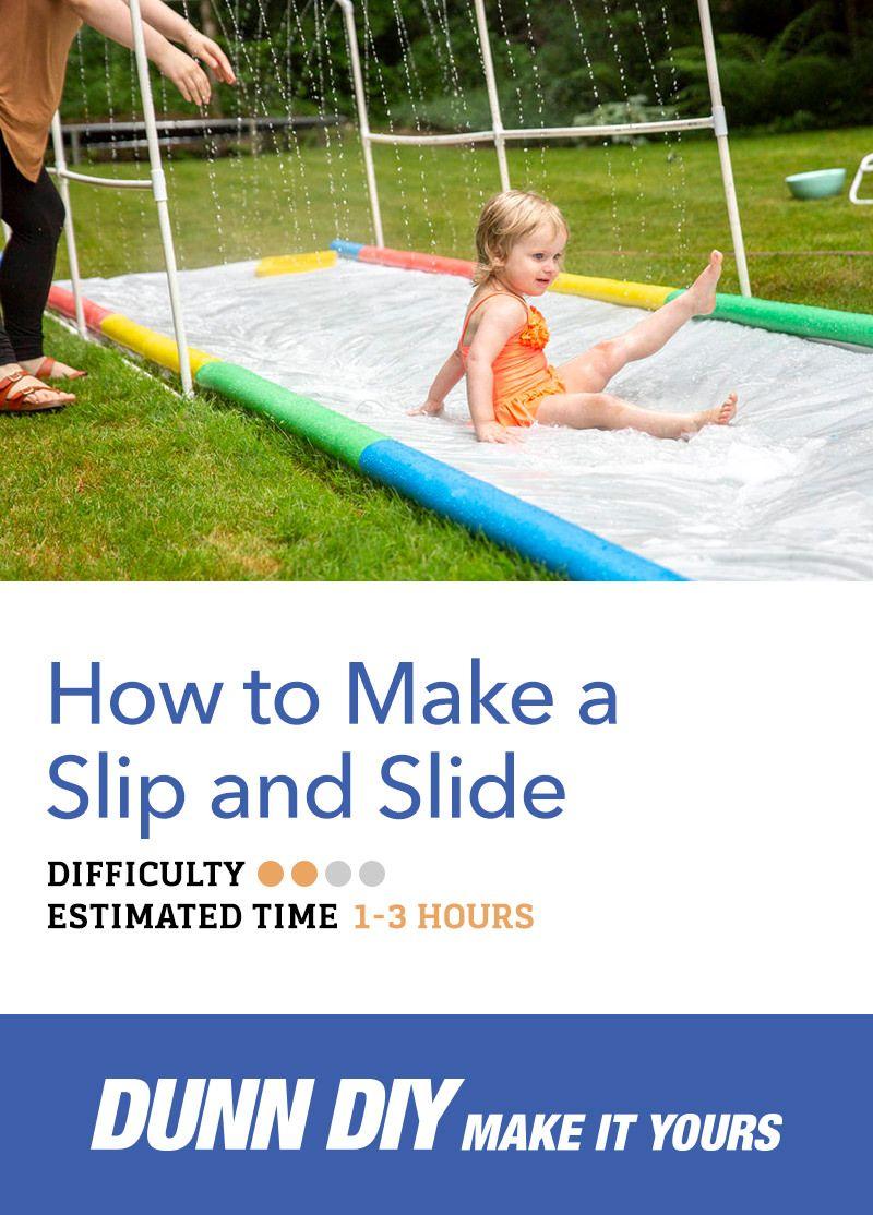 How to Make a Slip and Slide | Slip and slide, Kids slide ...