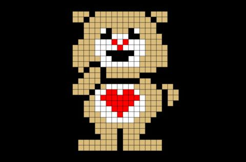 Care Bear Pixel Art Pixel Art Art Pattern Art