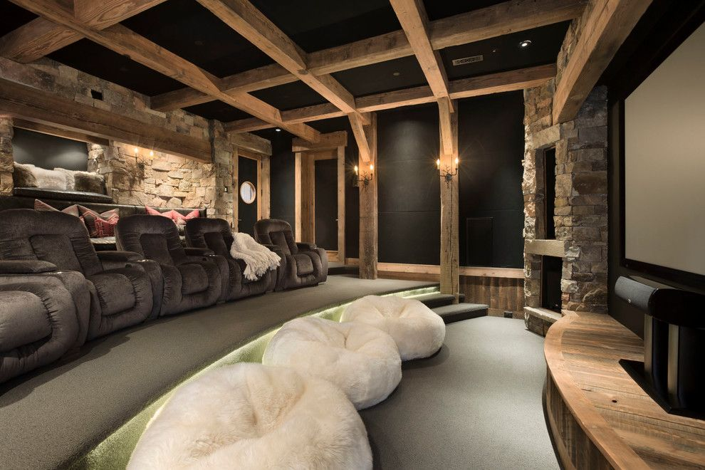 Awesome Basement Home Theater Cinema Room Ideas Bean Bag