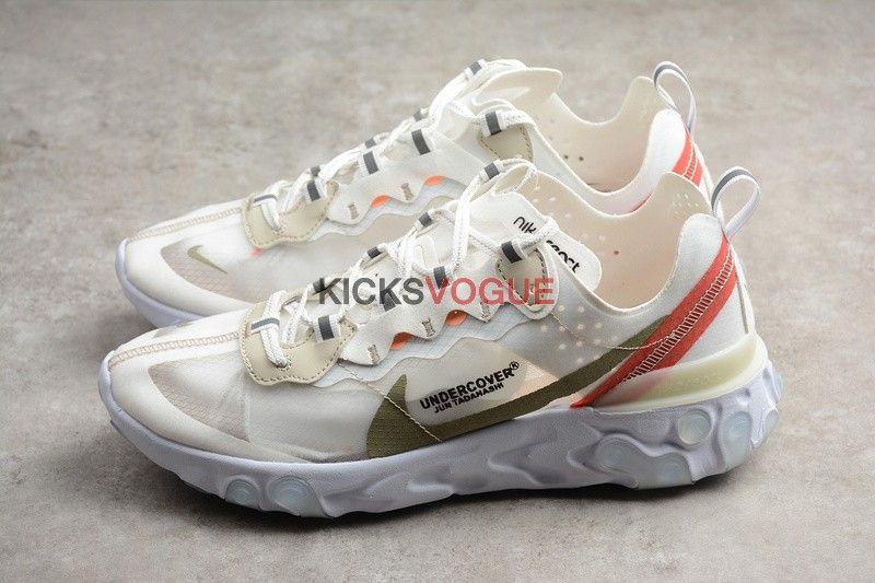 sale retailer 2db1e 9cffc Undercover x Nike React Element 87 Sail Light Bone AQ1813-345