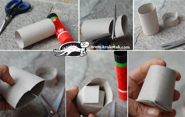 idea para transformar unos rollos de cartón en tacitas en las que desplegar la creatividad.