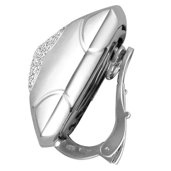 Bvlagri #Piramide #Diamond & 18k White #Gold #Earrings | World's Best