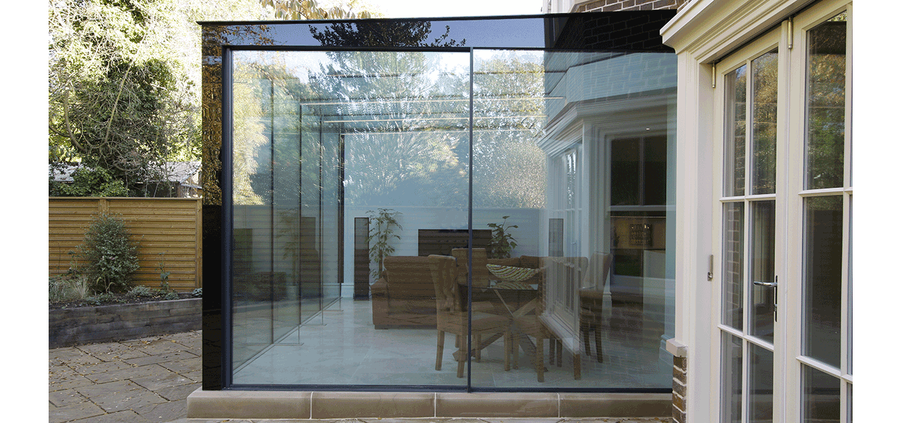 Sliding Glass Doors Were Used As The Rear Access To The Extension