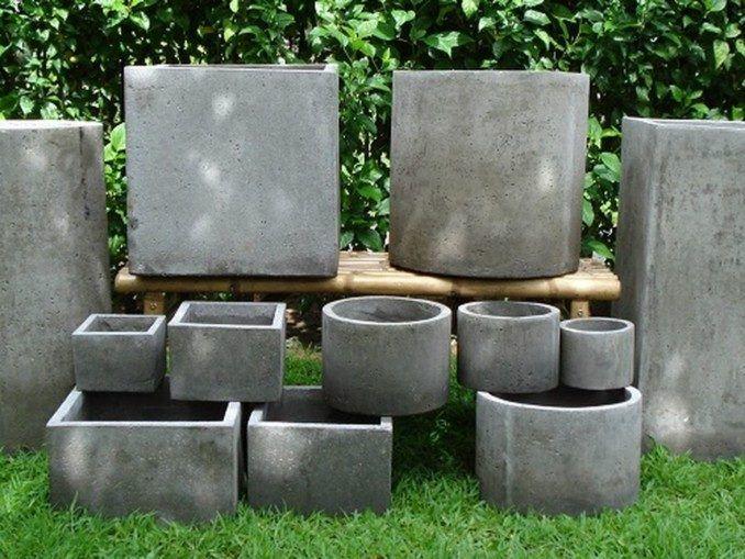 Como hacer macetas de cemento, concreto u hormigón concrete stuff - como hacer una jardinera