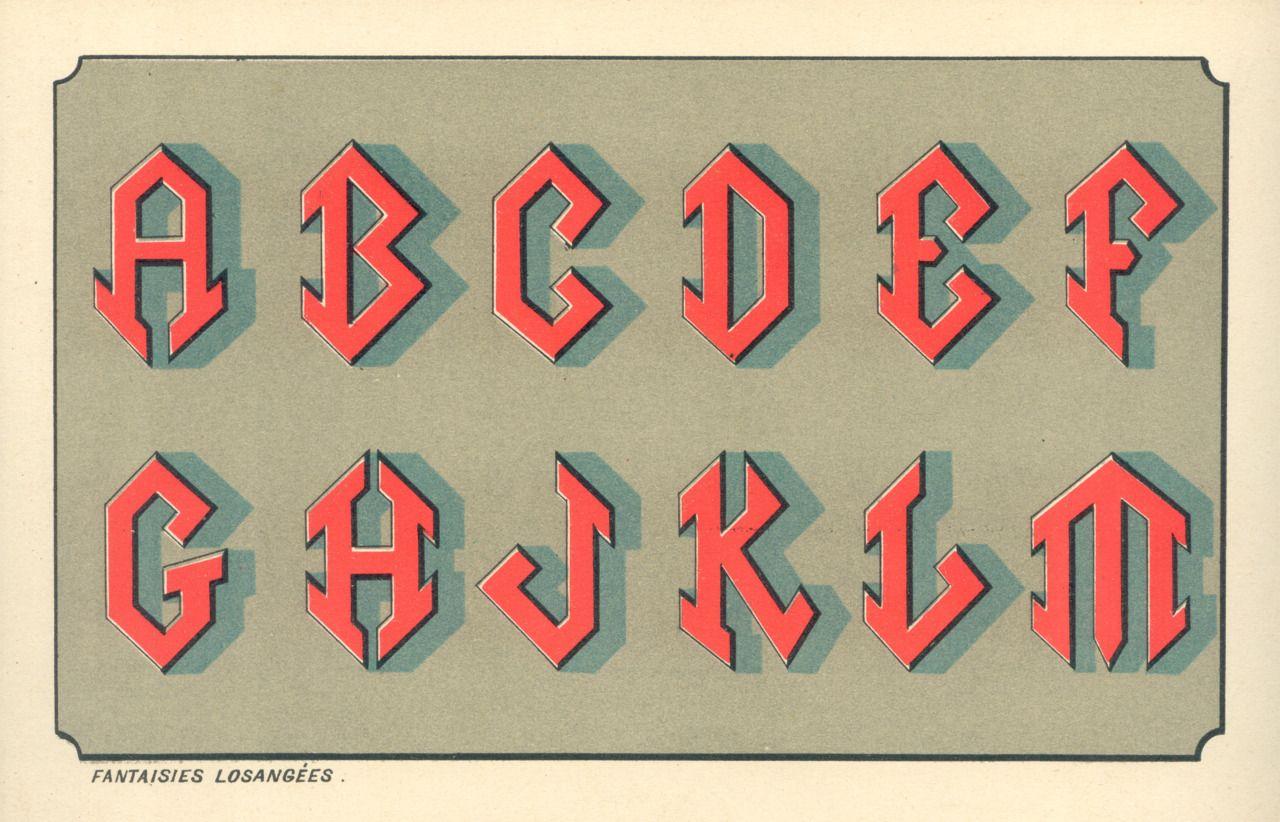 interesting font typography alphabet