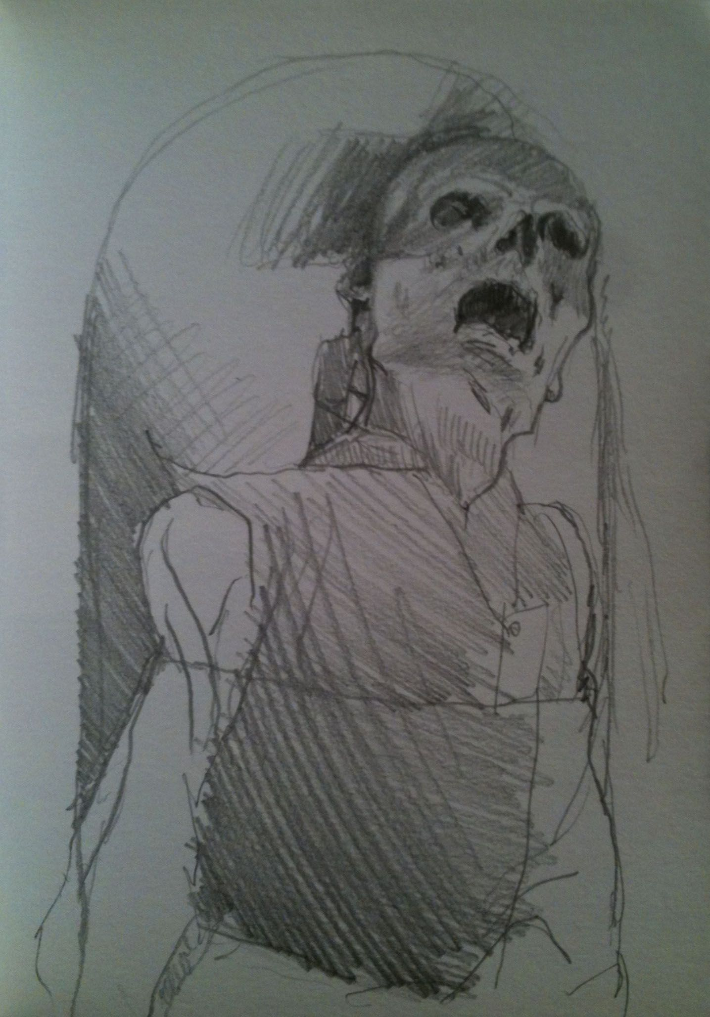 drawing from palermo catacombe