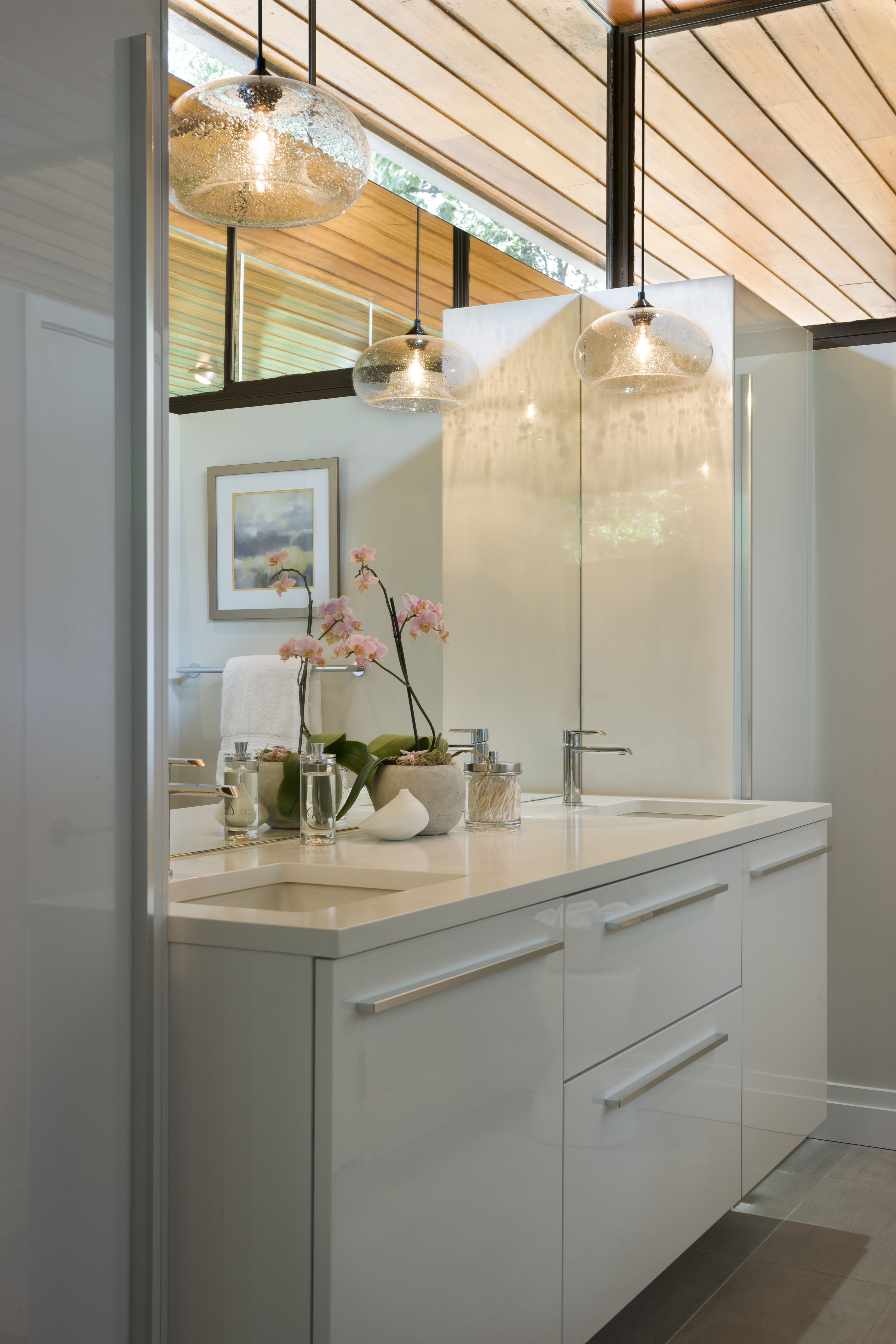 Sleek White Bathroom Remodel Featuring Snaidero CODE In Arctic White - Bathroom remodel codes