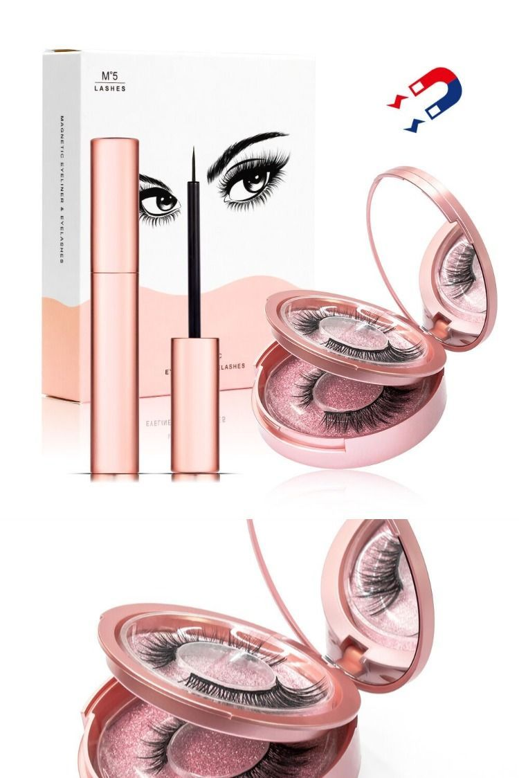 magnetic eyelash with eyeliner        2 paires de cils magnétiques avec eye-liner magnétique what