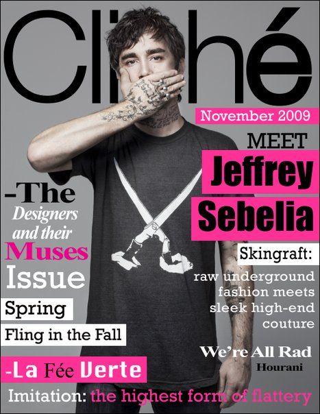 Cliché Magazine November 2009 featuring Jeffrey Sebella