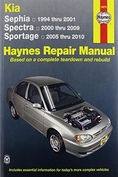 Kia Sephia 94 01 Spectra 00 09 Sportage 05 10 Haynes Repair Manual By J J Haynes Haynes Manuals N America Inc Repair Manuals Automotive Repair Repair