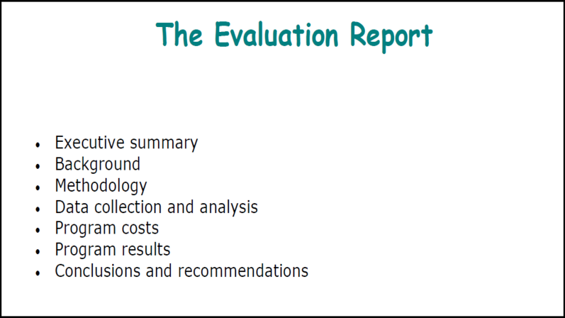 Idassessment  Evaluation Report  Program Evaluation