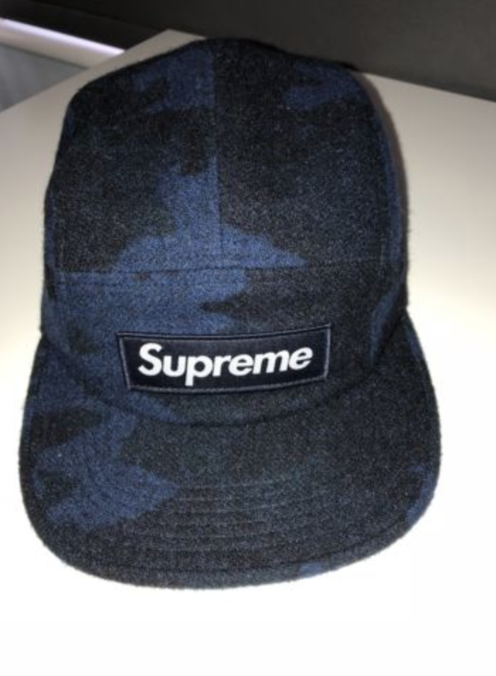 For Supreme Blue Camo Camp Cap One Size Sold Out In Online Authentic