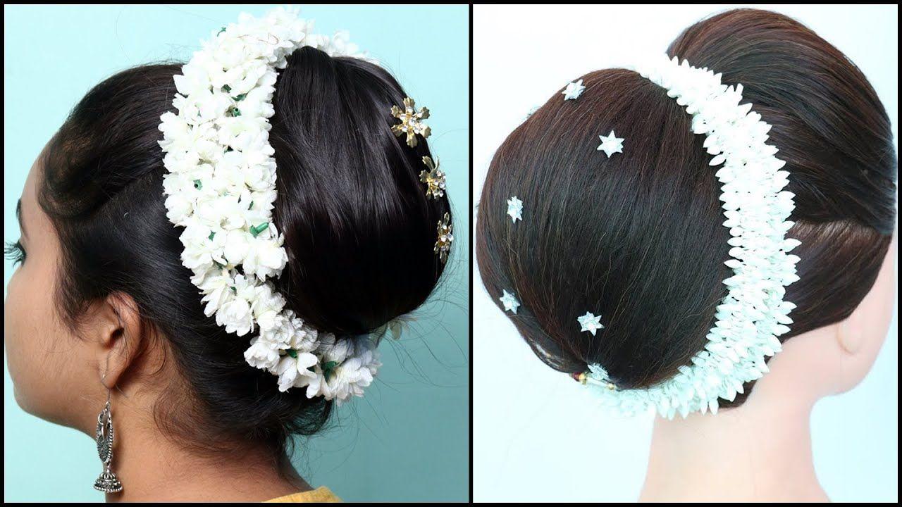 bridal juda hairstyle for dupatta setting || wedding hairstyles || big j... | Indian wedding ...