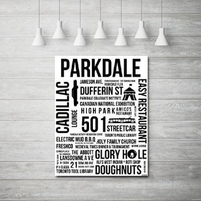 Parkdale digital print instant download toronto neighbourhoods rep your hood toronto toronto posters pdf file digital print