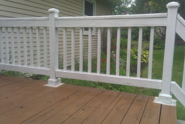Solid White Stain On Rails Deck