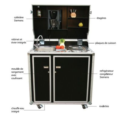 Kitcase - mini cuisine mobile by Indoors Charrier - environ 3800
