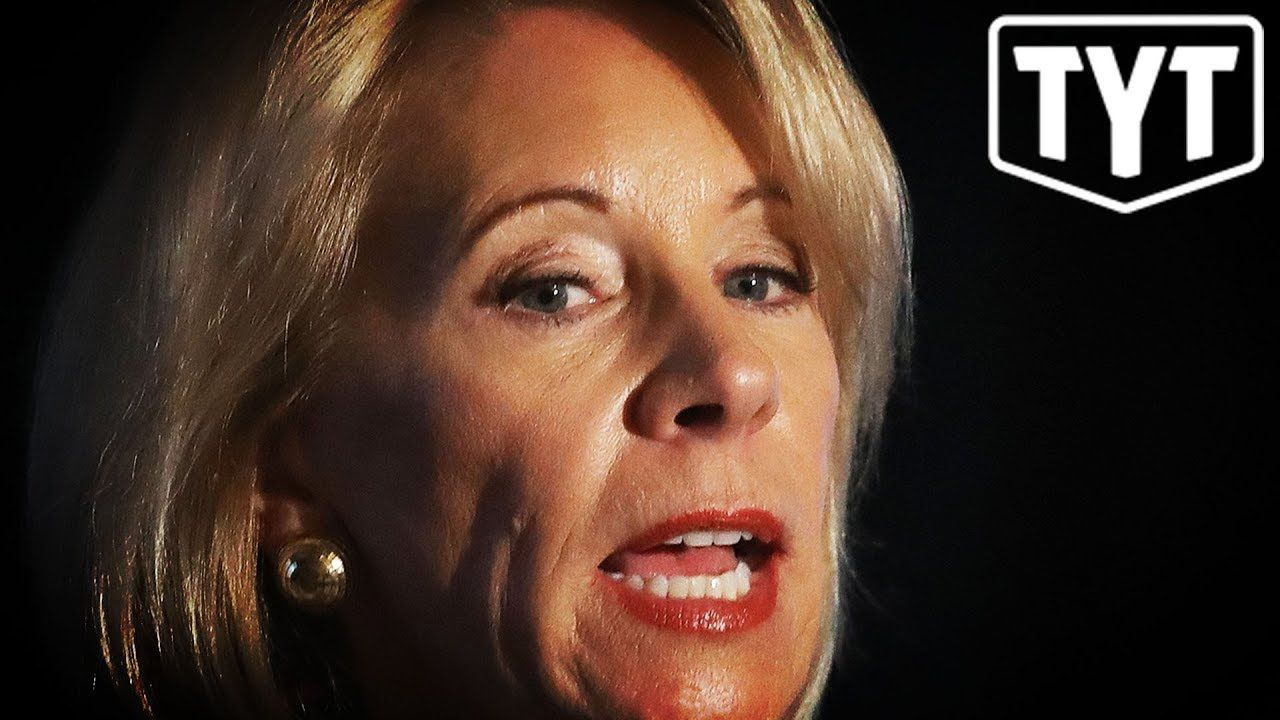 Ana Kasparian Nose Job betsy devos caught getting rich from fraud. (devos has been