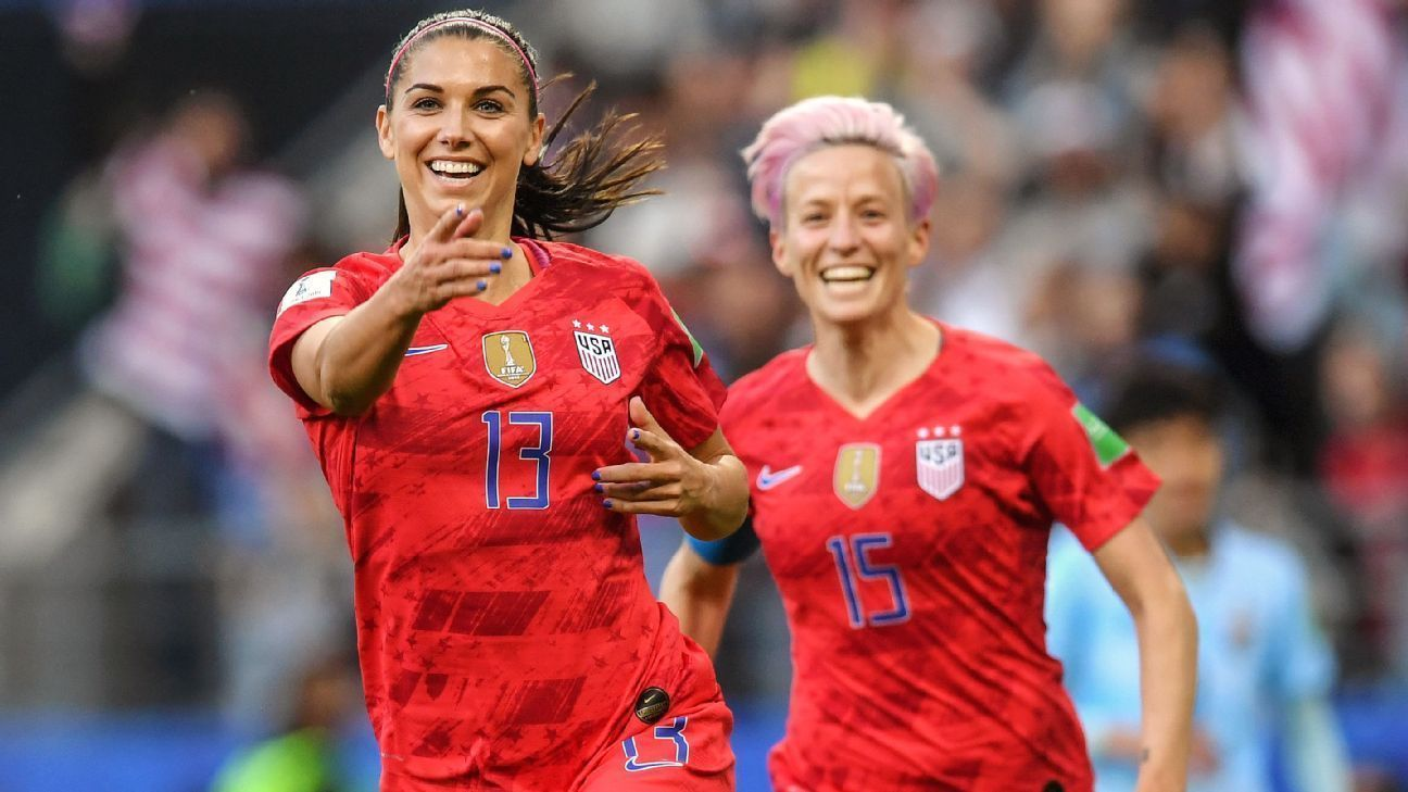 Womens World Cup 2019 U S Women Make Opening Statement With Record Rout Of Thailand Usa Soccer Women Women S Soccer Team Womens Soccer