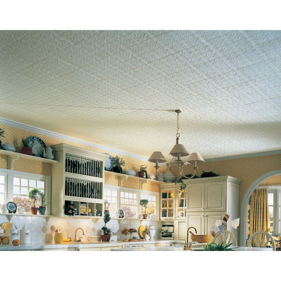 Tin like ceiling tiles gallery tile flooring design ideas shop armstrong 40 pack tin look tintile homestyle ceiling tile shop armstrong 40 pack tin look dailygadgetfo Choice Image