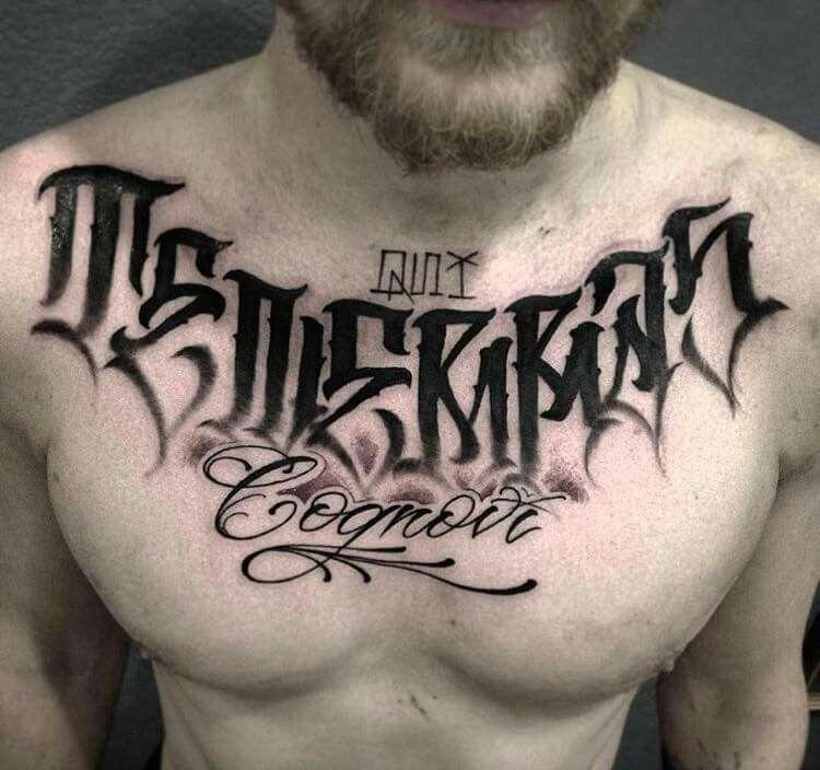 Pin De Alexis Ramirez Em Tattoo Nova Lettering Tatuagem Tatuagens Novas Tatuagem No Peito