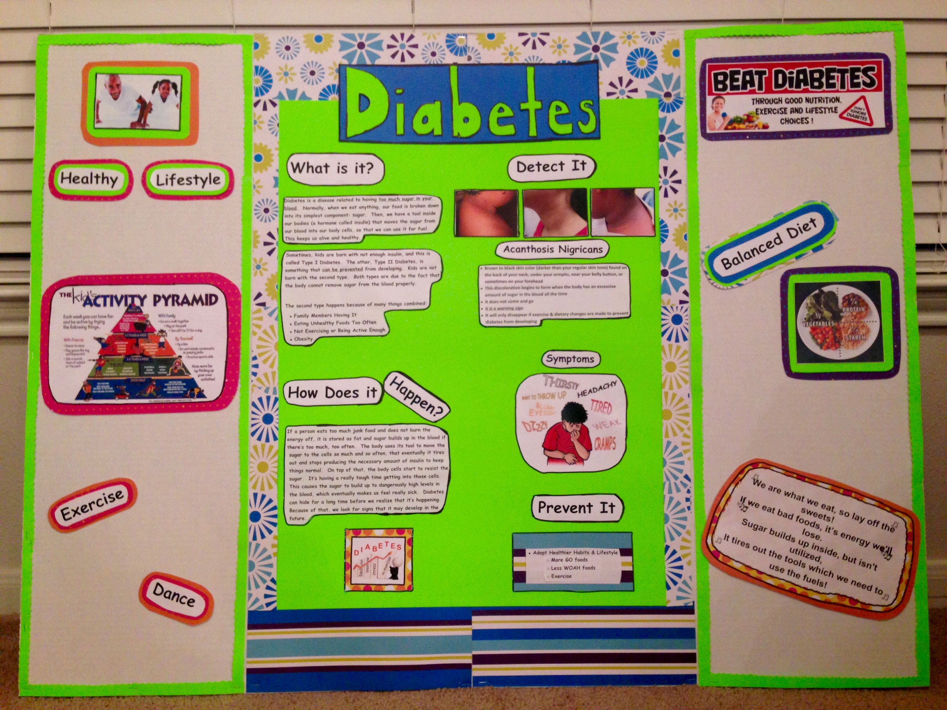 community health nursing trifold poster board project on