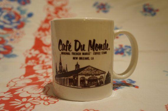 Vintage Cafe Du Monde Mug Vintage Cafe Mugs Cafe Du Monde