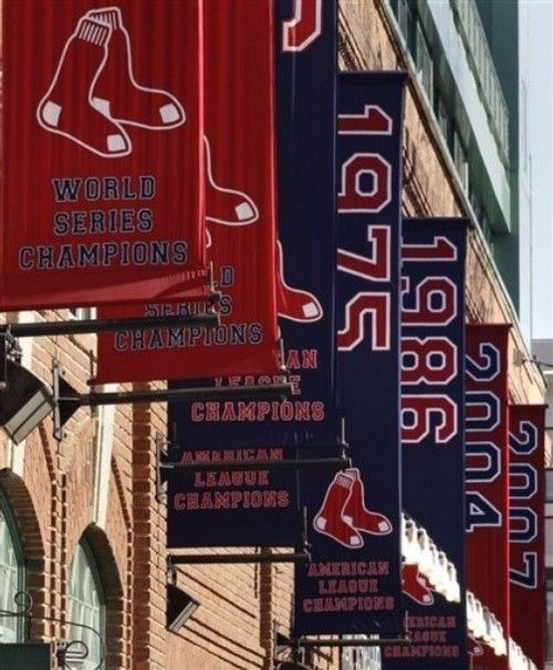 The banners outside Fenway. 2011 is next! :)