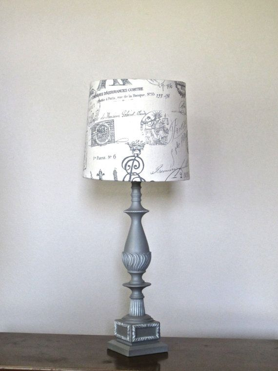 Vintage look table lamp french provincial taupe gray french style vintage look table lamp french provincial taupe gray french style hand made lampshade hand painted annie aloadofball Images