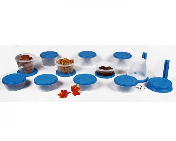 Buy Cutting Edge Polypropylene Multi-Purpose Storage Container (500,750 & 1000ml) (34 piece Set) (Aqua Blue) Online Best Price