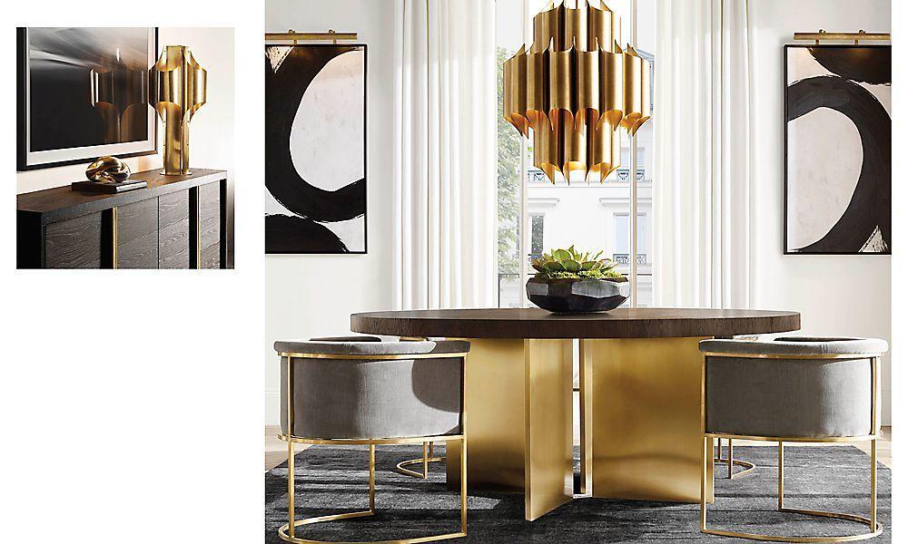 Rooms Rh Modern Minimalist Dining Room Luxury