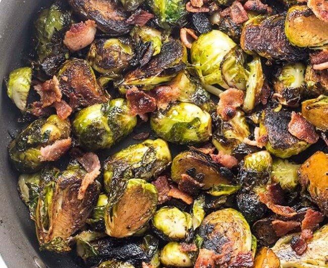 Crispy Pan Fried Brussel Sprouts #brusselsproutrecipes