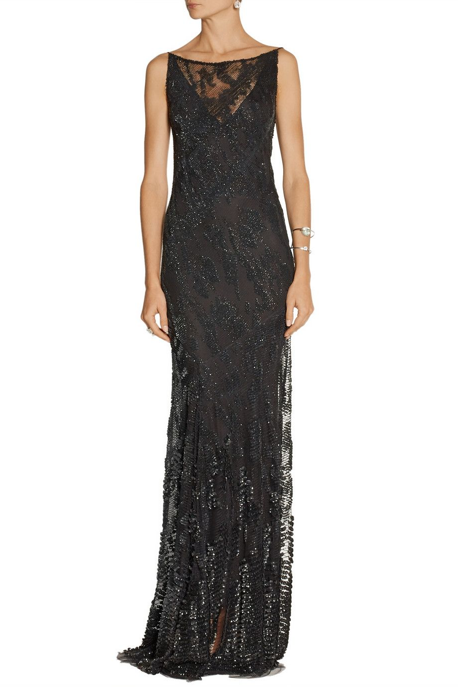 Donna Karan New York Embellished tulle gown | Things to Wear ...