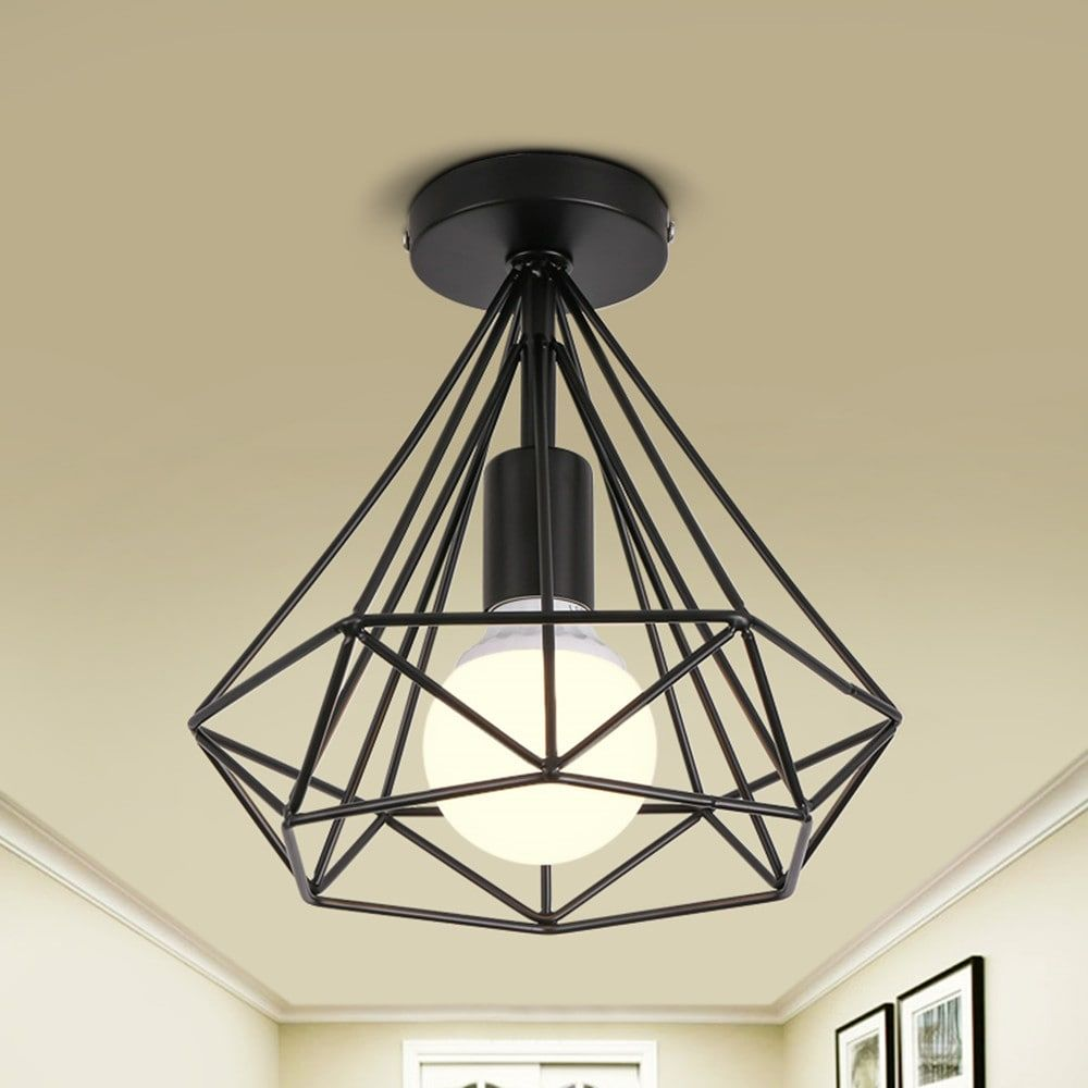 Nordic Iron Industry Vintage Home Decor Ceiling Light Fixtures ...