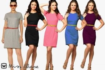 Party T-shirt Dress at Lowest Price : Buy Party T-shirt Dress at Rs 499 Only - Best Online Offer