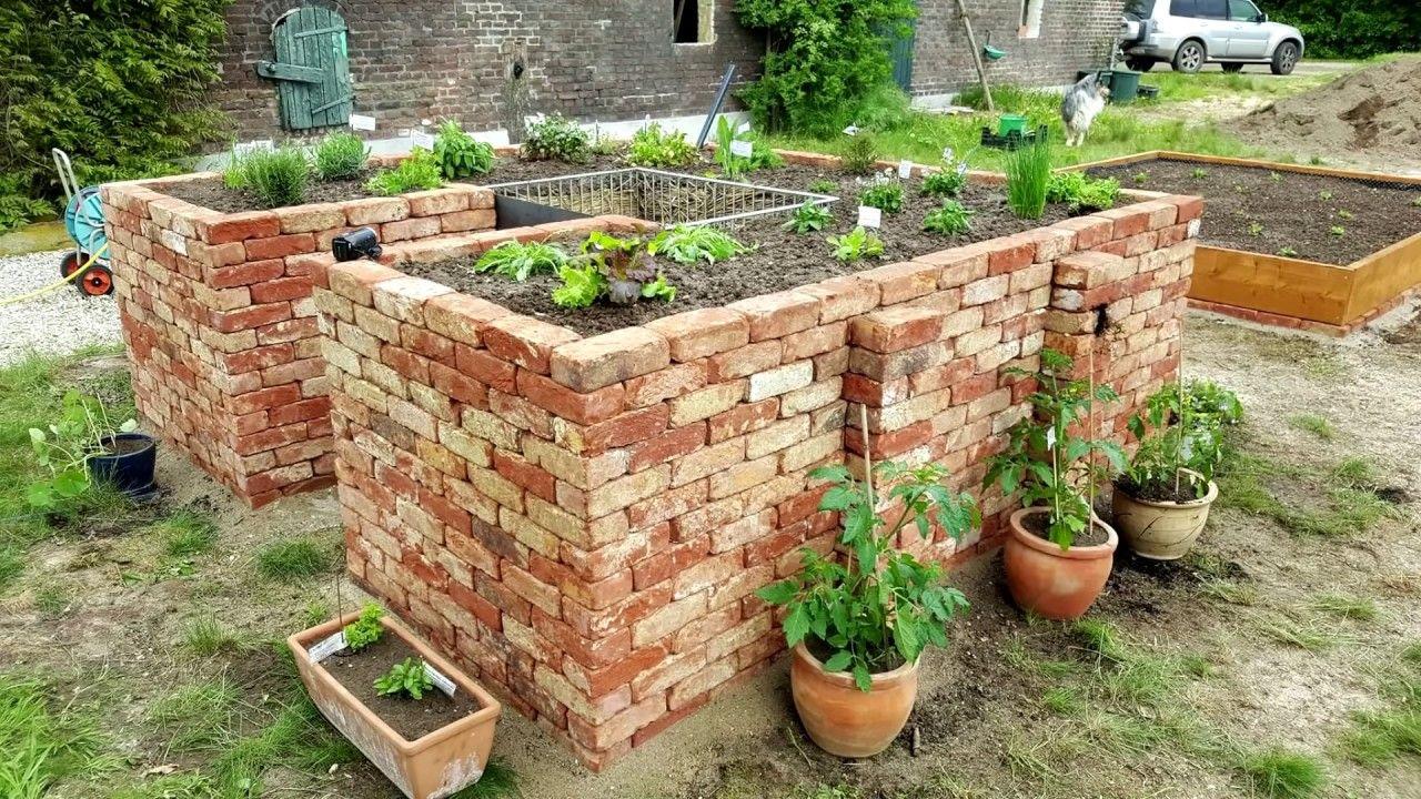 Hochbeet Selber Bauen Mit Ziegelsteinen Hochbeet Selber Bauen Gartenbeet Garten Hochbeet